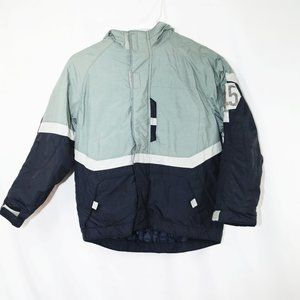 Pacific trail green and navy jackt